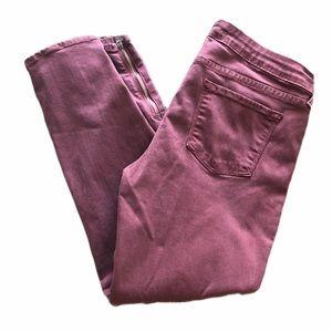 Just Black Purple Skinny Ankle Zips Jeans 31P